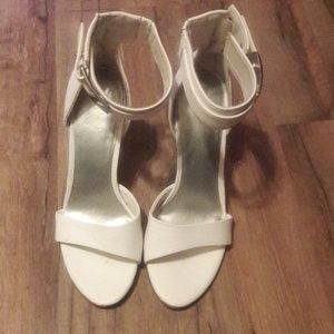 Matte White LimeLight Heels with Ankle Strap